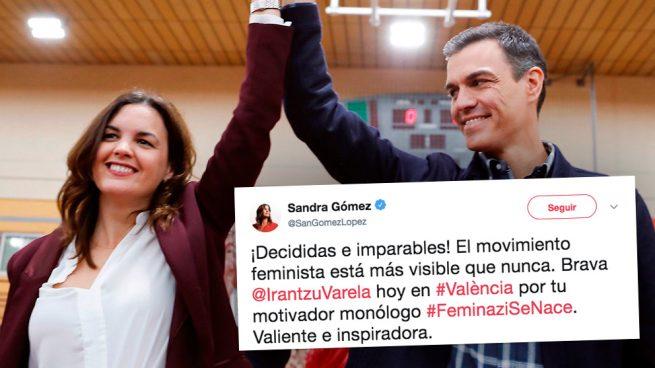 La candidata de Sánchez en Valencia se declara «feminazi» y seguidora de una activista de Bildu