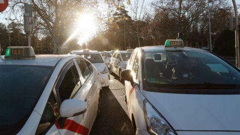Huelga de taxis en Madrid (Foto: Efe/J.P. Gandul)