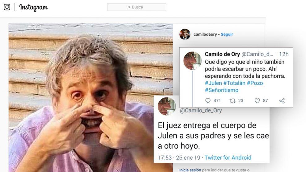 El 'poeta' Camilo de Ory, que se ríe de la muerte del pequeño Julen
