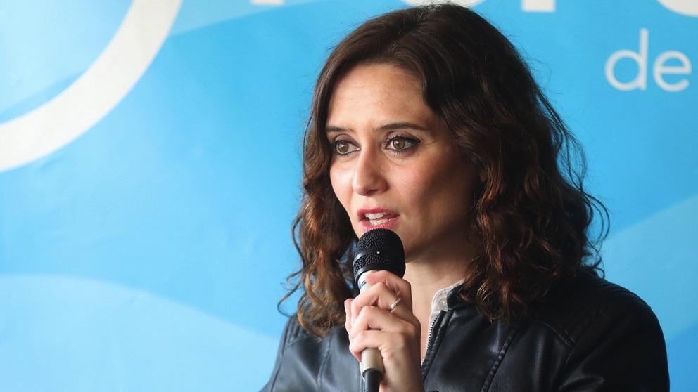 Isabel Díaz Ayuso, en Boadilla del Monte. (Foto. PP)