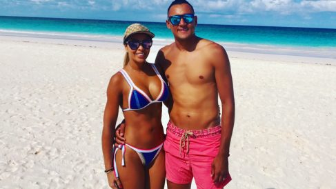 Andrea Salas y Keylor Navas. (@andreasalasb)