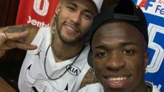 Neymar y Vinicius Junior. (@viniciusjunior)