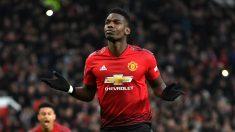 Pogba celebra un gol reciente con el United (Getty).