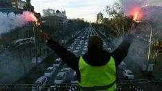 Protesta de taxistas este lunes al amanecer en Madrid