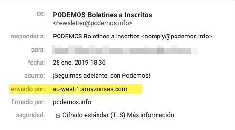 Podemos pide el boicot a Amazon mientras elige su servicio para distribuir emails a sus militantes