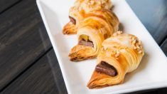 Receta de Croissant relleno de chocolate