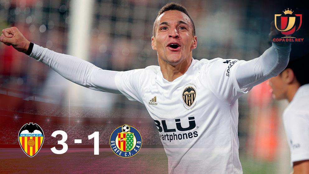 Copa del Rey: Valencia – Getafe   Partido de fútbol hoy, en directo.