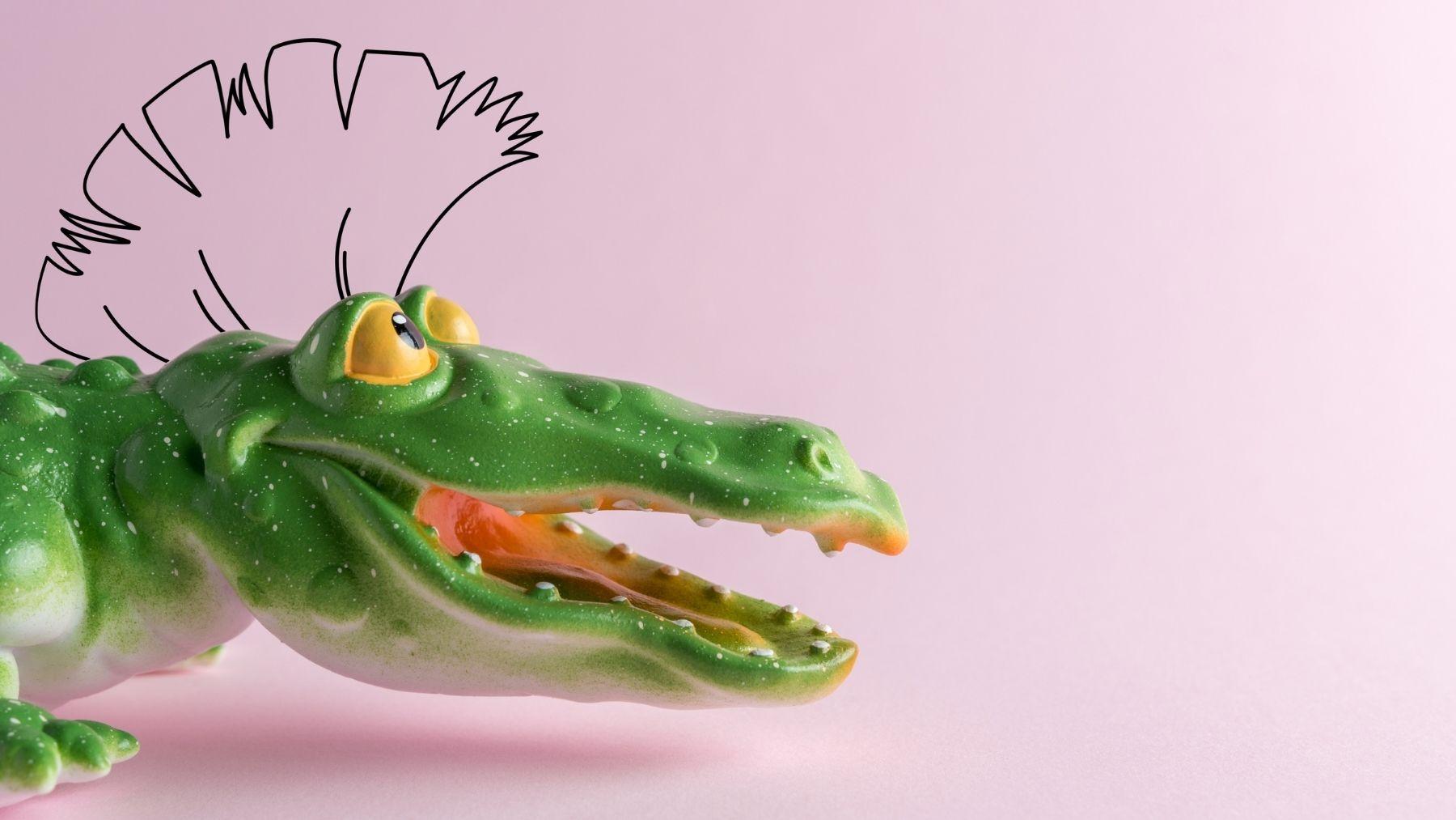 Instrucciones para dibujar un cocodrilo