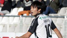 Shoya Nakajima durante el Portimonense-Tondela de la Liga NOS. (Getty)