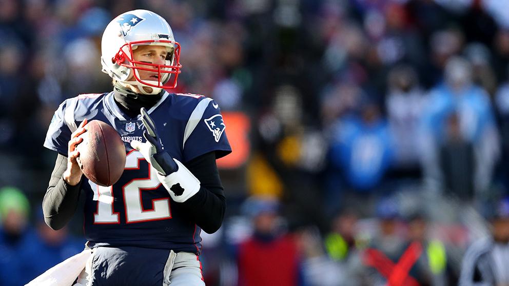 Un acción del encuentro de los New England Patriots. (Getty)