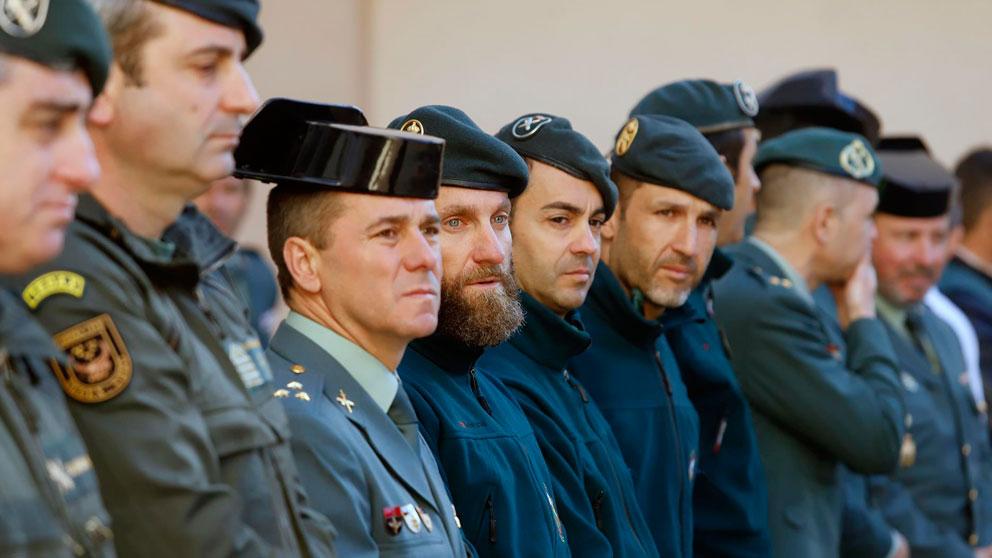 Un grupo de los Guardias Civiles que participaron en el rescate de Julen. Foto: Europa Press