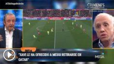 Xavi quiere captar a Messi para que se retire en Qatar.