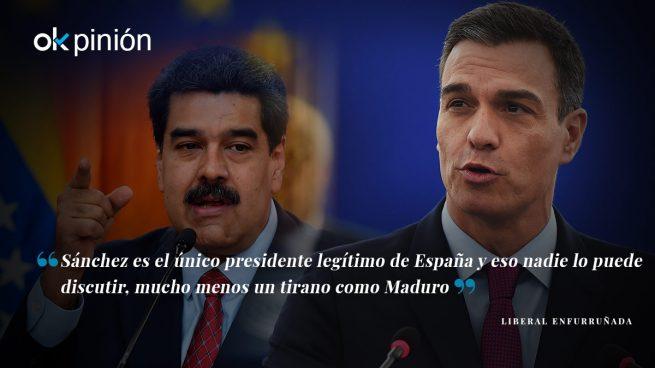 Sánchez sí es presidente legítimo, Maduro no