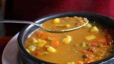 Receta de sopa de lentejas con pimientos