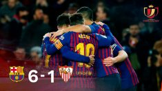 El Barça hace piña tras tumbar a un manso Sevilla.