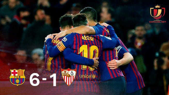 El Barça hace piña tras tumbar a un manso Sevilla. 1415dd0fd421f