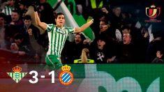 El Betis elimina al Espanyol.
