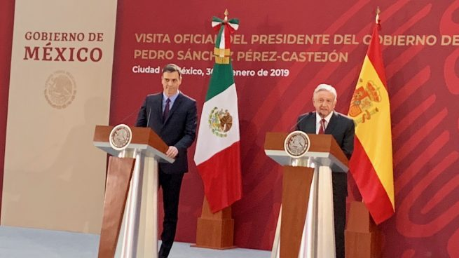 Sánchez, con el presidente de México Andrés Manuel López Obrador, durante su visita oficial al país. Foto: Joan Guirado