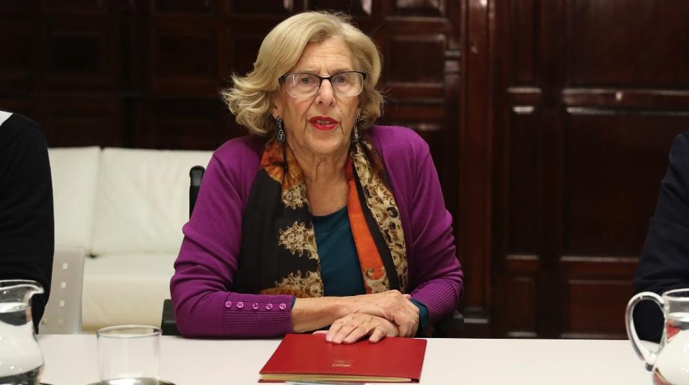 Manuela Carmena en la Sala de Madera del Ayuntamiento. (Foto. Madrid)