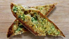 Receta de pan de ajo y perejil