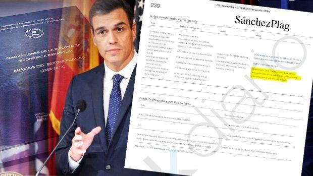 La wiki 'SanchezPlag' detecta plagio o errores en 177 de las 341 páginas de la tesis del presidente. (Fuente: OKDIARIO)