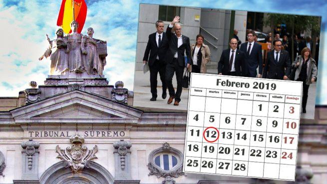 El Supremo se plantea retrasar al martes 12 de febrero el comienzo del juicio del 1-O