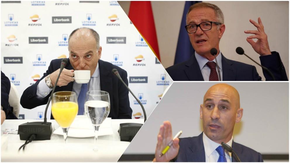 Tebas, Guirao y Rubiales, enfrentados por el caso Reus.