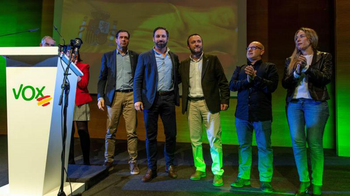 Acto de Vox con Alcaraz (EFE).