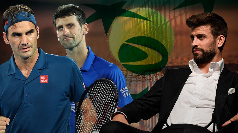 Federer y Djokovic dan plantó a Piqué.