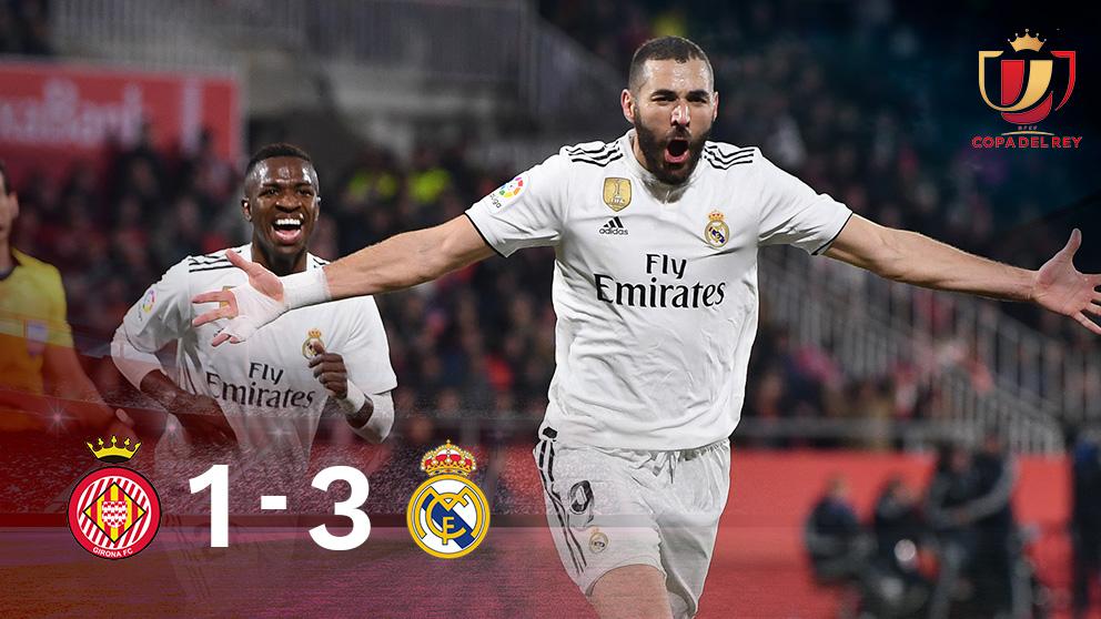 Benzema, decisivo en el Girona-Real Madrid.