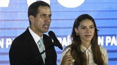 Juan Guaidó presentando el Plan País este jueves (AFP).