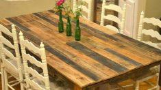 Pasos para hacer una mesa de cocina de palets