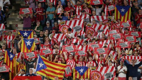 Montilivi volvió a lucir banderas esteladas.