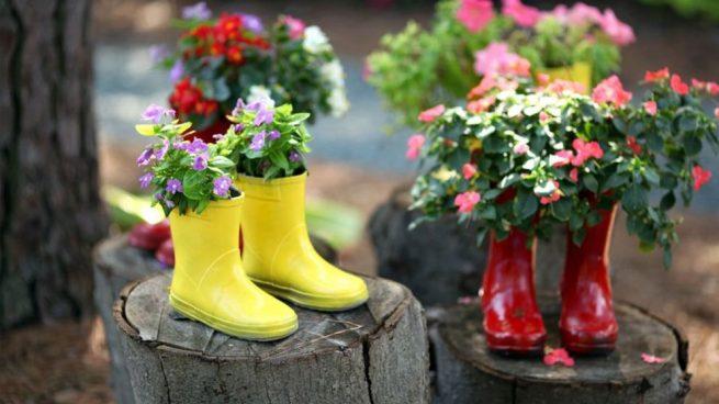 floreros botas