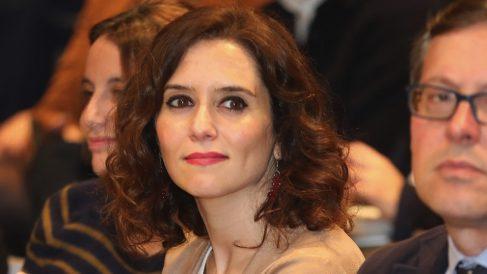Isabel Díaz Ayuso en una charla. (Foto. PP)