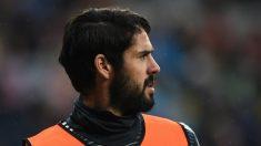 Isco, durante un calentiamiento con el Real Madrid (Getty).