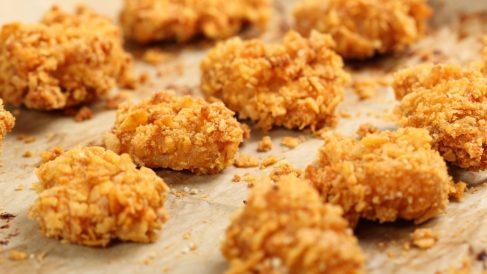 Receta de pollo rebozado con cereales al horno