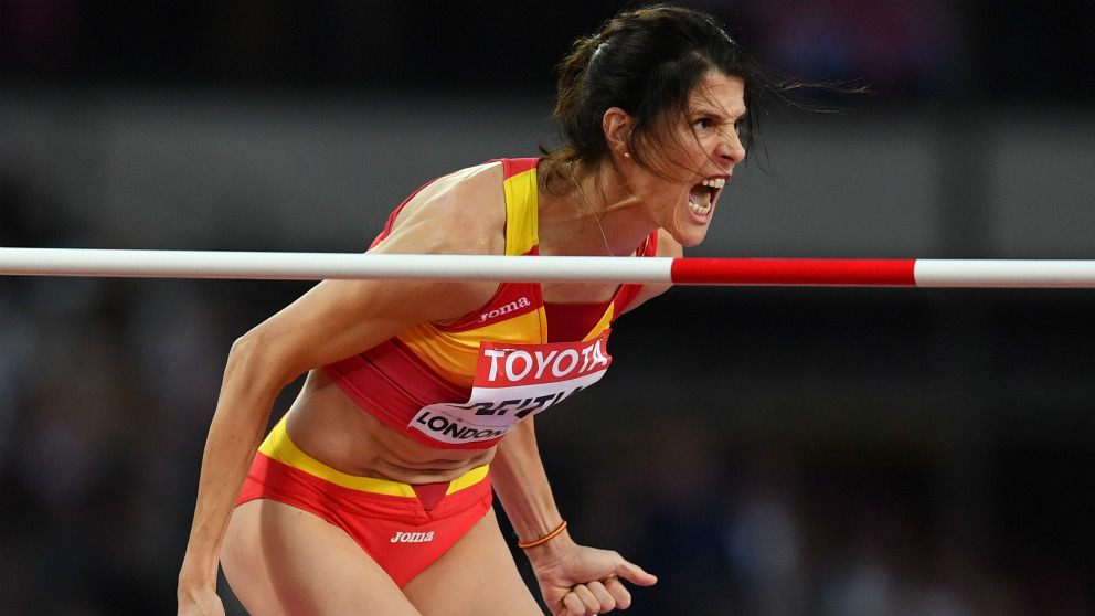 Oficial: Ruth Beitia gana la medalla de bronce en los Juegos de Londres.  (AFP)