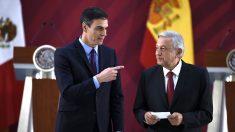 Pedro Sánchez y Andrés Manuel López Obrador (Foto: AFP).