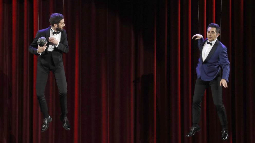 Berto Romero y David Broncano en la Gala de los Goya 2019.