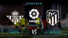 Liga Santander: Real Betis – Atlético de Madrid | Horario del partido de fútbol de Liga Santander.