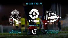 Liga Santander: Real Madrid – Alavés | Horario del partido de fútbol de Liga Santander.