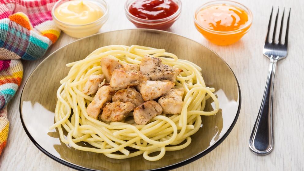 Receta de espaguetis con salsa de naranja