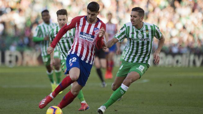 Triste debut de Morata con el Atlético: falló sus ocasiones y reclamó un penalti