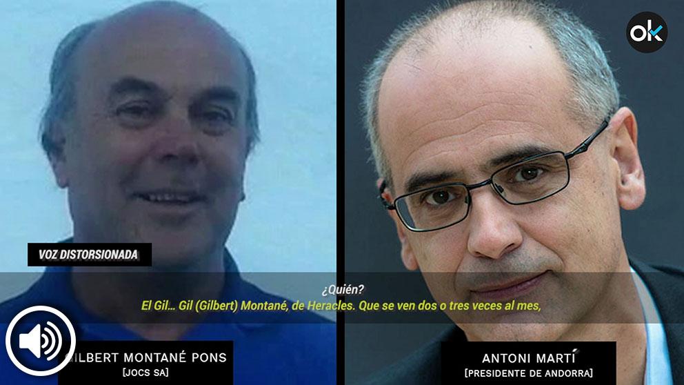 El constructor Gilbert Montané y el presidente de Andorra, Antoni Martí.