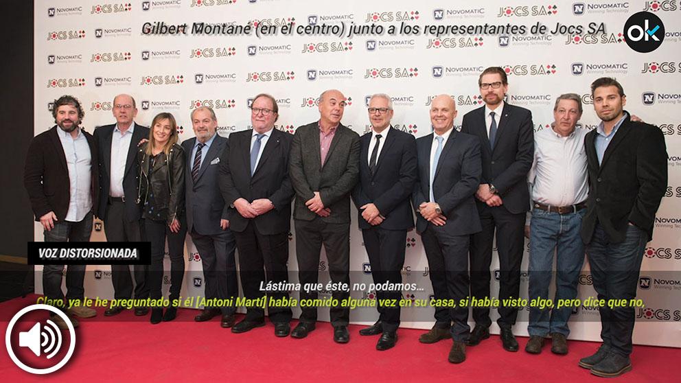 Gilbert Montané junto al resto de representantes de JOCS SA.