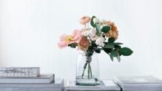 Pasos para hacer floreros con tarros de cristal