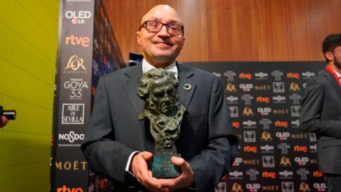 El actor Jesús Vidal, primera persona con discapacidad visual premiado con un Goya como actor por su interpretación en 'Campeones', de Javier Fesser. Foto: Europa Press