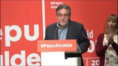 Pepu Hernández, en su presentación como candidato a la Alcaldía de Madrid. (Foto: Enrique Falcón)