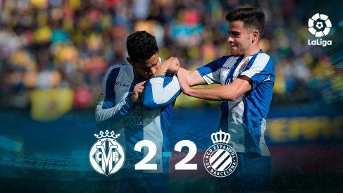 Villarreal y Espanyol empataron a dos tantos en La Cerámica.